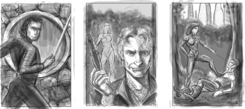 Roughs for new DART cover.